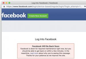 Facebook API's are down- Social Media Tips